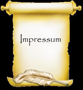 Papyrus mit Text Impressum